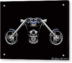 The Heart Of The Harley Acrylic Print by Wayne Bonney