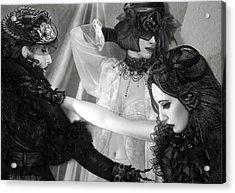The Hearts Divide - Self Portrait Acrylic Print by Jaeda DeWalt