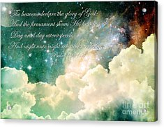 The Heavens Declare Acrylic Print by Stephanie Frey