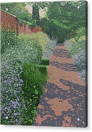 The Herb Garden Acrylic Print by Malcolm Warrilow