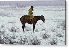 The Herd Boy Acrylic Print by Frederic Remington