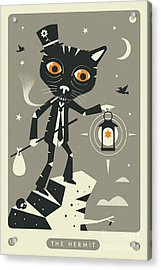 The Hermit Tarot Card Cat  Acrylic Print