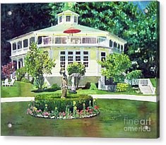 The Hexagon House, Bed And Breakfast, House Painting Acrylic Print