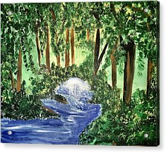 The Hidden Forest Acrylic Print by Angela Holmes