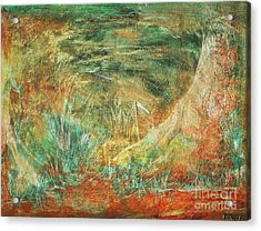 The Hidden Forest Acrylic Print by Reb Frost