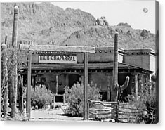 The High Chaparral Set With Sign Old Tucson Arizona 1969-2016 Acrylic Print