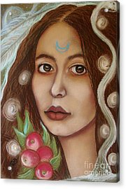 The High Priestess Acrylic Print by Tammy Mae Moon