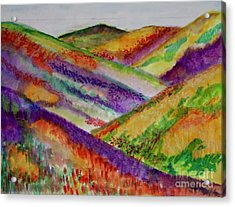 Acrylic Print featuring the painting The Hills Are Alive by Kim Nelson