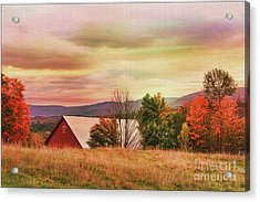 The Hills Of Vermont Acrylic Print by Deborah Benoit