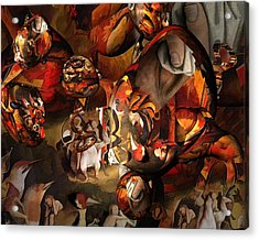 The History Or Art Acrylic Print by Peter Ciccariello