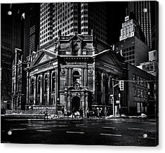 Acrylic Print featuring the photograph The Hockey Hall Of Fame Toronto Canada by Brian Carson
