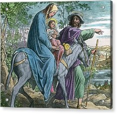The Holy Family And The Flight Into Egypt Acrylic Print