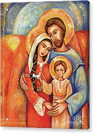 Acrylic Print featuring the painting The Holy Family by Eva Campbell