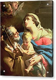 The Holy Family Acrylic Print by Gaetano Gandolfi