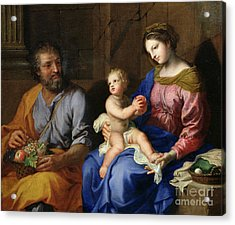 The Holy Family Acrylic Print by Jacques Stella