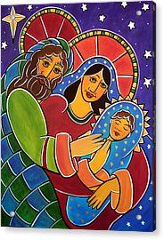 Acrylic Print featuring the painting The Holy Family by Jan Oliver-Schultz