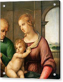The Holy Family Acrylic Print by Raphael