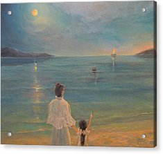 Acrylic Print featuring the painting The Homecoming by Donna Tucker