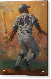 The Homerun King Acrylic Print by Tom Forgione