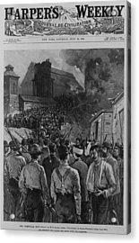The Homestead Steel Strike Riot Acrylic Print by Everett