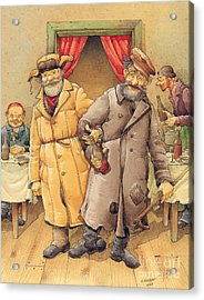 The Honest Thief 01 Illustration For Book By Dostoevsky Acrylic Print by Kestutis Kasparavicius