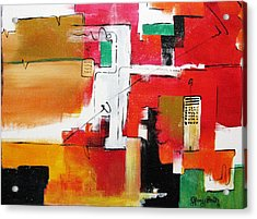 Acrylic Print featuring the painting The Hood by Gary Smith
