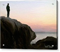 Acrylic Print featuring the painting The Horizon by Wayne Pascall
