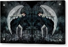The Hosts Of Seraphim Acrylic Print by Spokenin RED