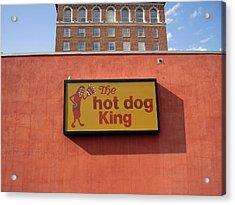 The Hot Dog King Acrylic Print