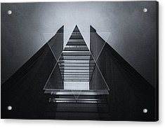 The Hotel Experimental Futuristic Architecture Photo Art In Modern Black And White Acrylic Print by Philipp Rietz