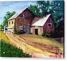 The House Barn Acrylic Print by Jim Phillips