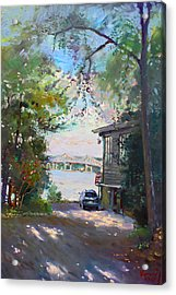 The House By The River Acrylic Print