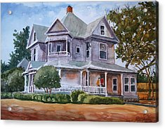 The House Of Many Angles Acrylic Print by Ron Stephens