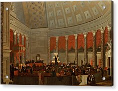 The House Of Representatives Acrylic Print by Samuel Finley Breese Morse