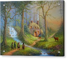 The House Of Tom Bombadil.  Acrylic Print by Joe  Gilronan