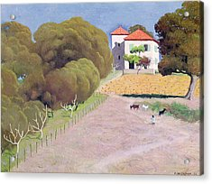 The House With The Red Roof Acrylic Print by Felix Edouard Vallotton