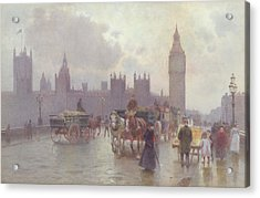 The Houses Of Parliament From Westminster Bridge Acrylic Print by Alberto Pisa