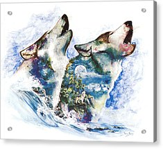 Acrylic Print featuring the painting The Howl by Sherry Shipley