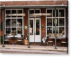 The Hub - Storefront - Vintage Acrylic Print by Greg Jackson