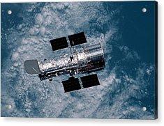 The Hubble Space Telescope Acrylic Print by Nasa