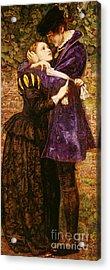 The Huguenot, 1852 Acrylic Print by John Everett Millais