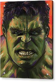 The Hulk Acrylic Print by Julianne Black