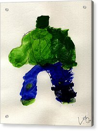 The Hulk Acrylic Print by Vincent Gitto