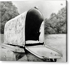 The Humble Mailbox Acrylic Print