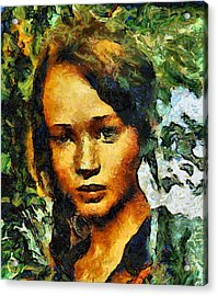 The Hunger Games Acrylic Print by Elizabeth Coats