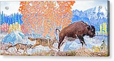 Acrylic Print featuring the digital art The Hunt by Ray Shiu