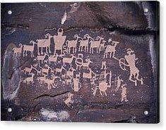 The Hunt Scene- Ancient Pueblo-anasazi Acrylic Print by Ira Block