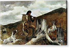 The Hunter And His Dogs Acrylic Print by Winslow Homer