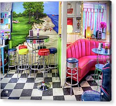 The Ice Cream Shoppe In Duval, Wa Acrylic Print by Greg Sigrist