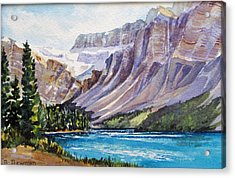 Along-the-icefield-parkway Acrylic Print by Nancy Newman